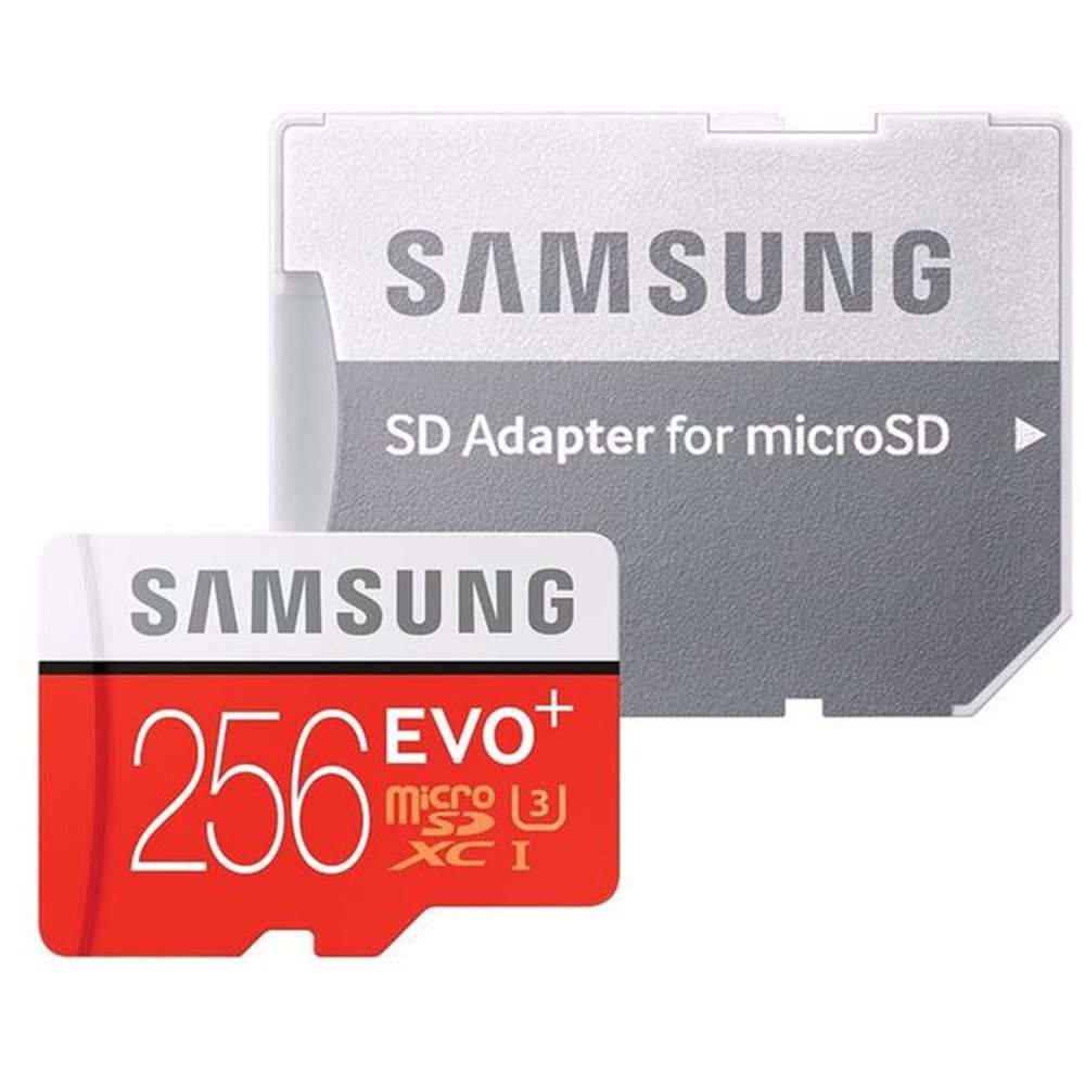 Card de memorie microSDXC EVO Plus micro SD de 256 GB cu adaptor SD clasa 10 MB-MC256GA / EU