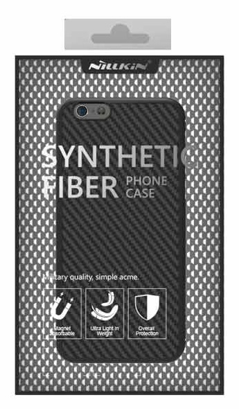 Husa Apple iPhone 6/6S Nillkin Synthetic Fiber Negru