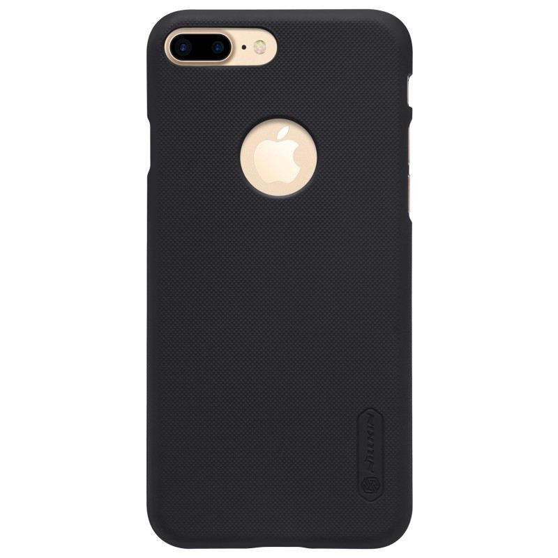 Husa Apple iPhone 7 Plus Nillkin Frosted Shield Negru + Folie de protectie