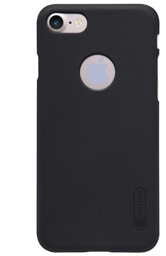 Husa Apple iPhone 8 Nillkin Frosted Shield Negru + Folie de protectie