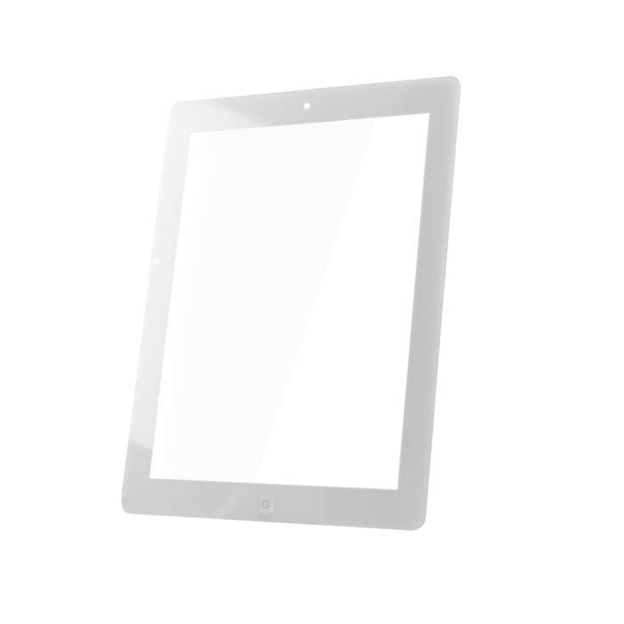 Touch Panel for iPad4 full front set white