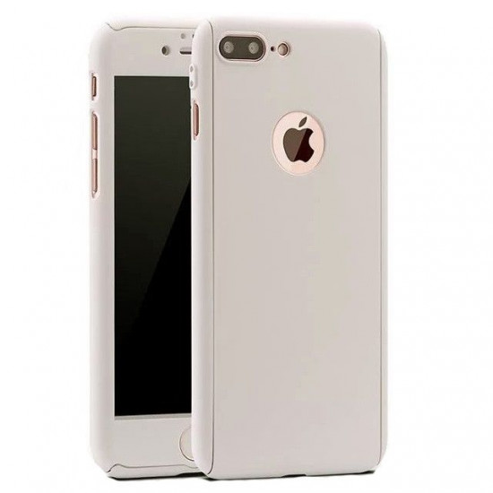 Husa Apple iPhone XS Max Full Cover 360 Argintiu + Folie de protectie