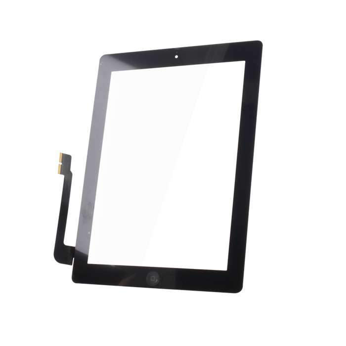 Touch Panel for iPad3 full front set black