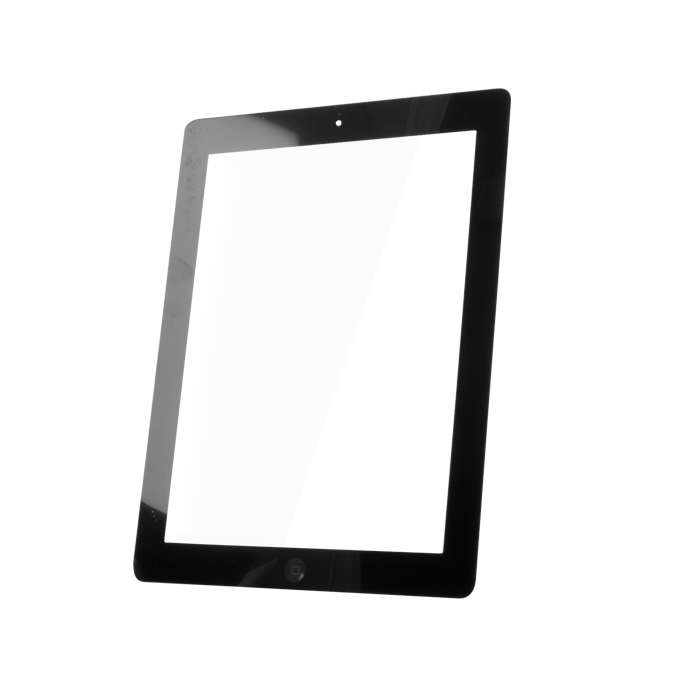 Touch Panel for iPad4 full front set black