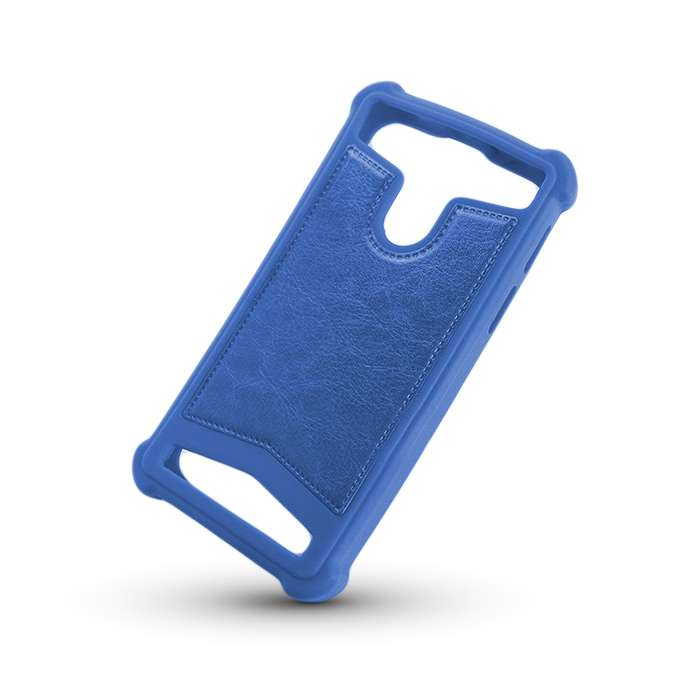 Silicon universal style case 4,0–4,5 blue