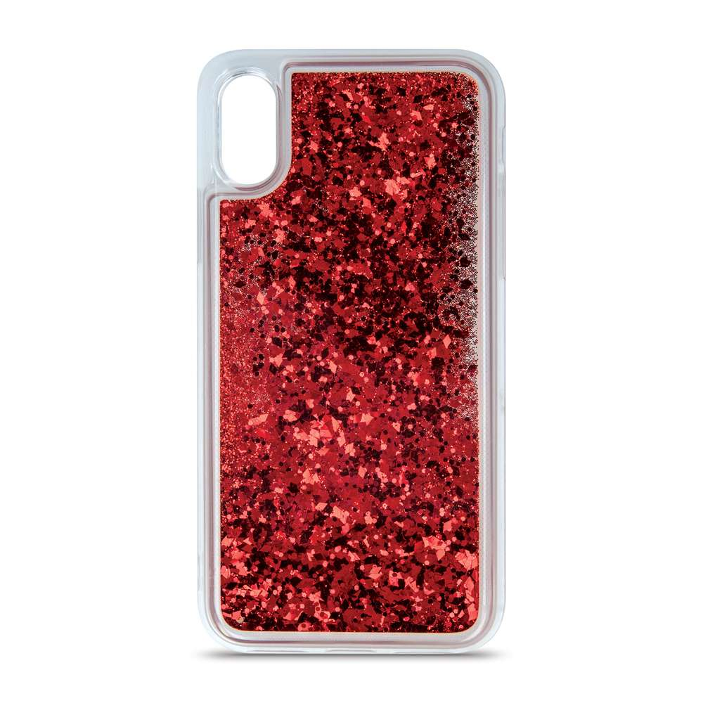 Liquid Sparkle TPU case for Samsung A10 red