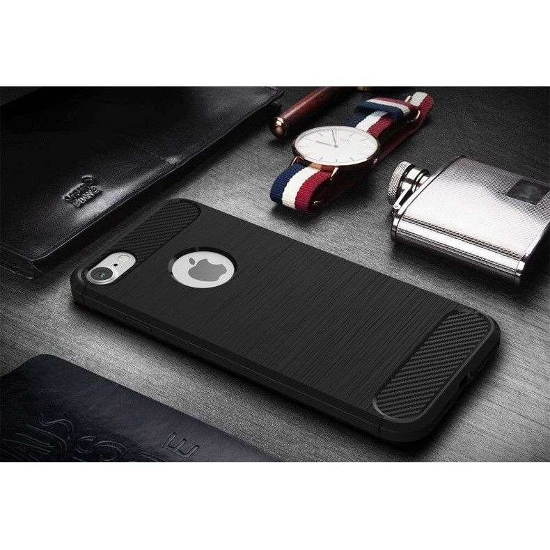 Husa Apple iPhone 6/6S Tpu, carbon, Negru