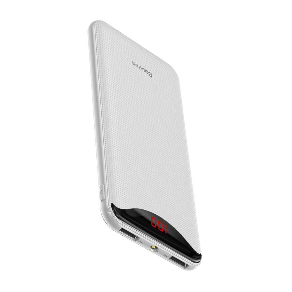 Ecran digital Baseus Gentleman Powerbank 10000mAh Alb (PPLN-02)