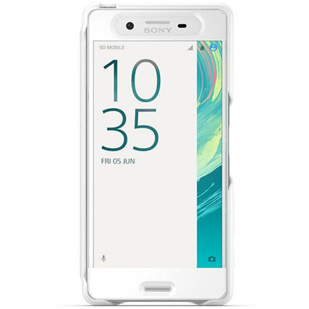 Husa Sony Xperia X Compact Originala, tip Touch Style Cover, Alb