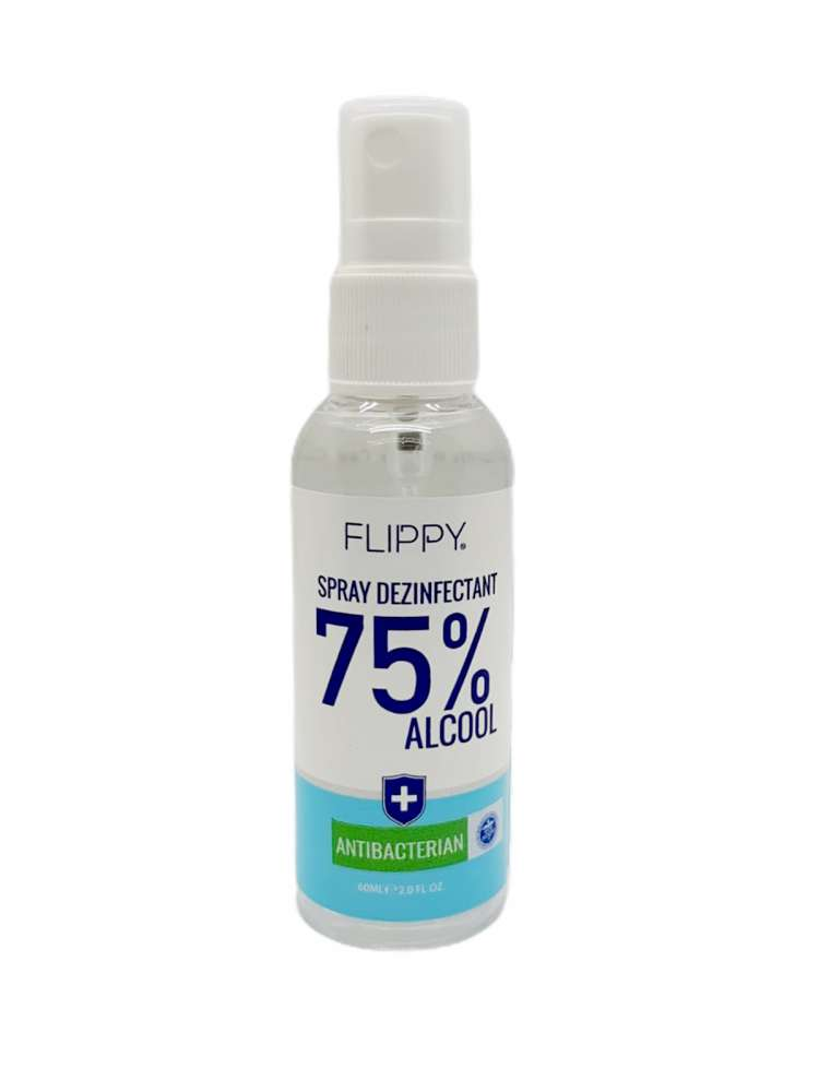 Spray Dezinfectant Instant cu 75 % alcool Flippy, 60 ml