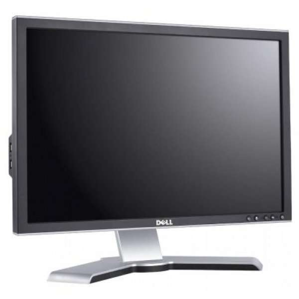 Monitor 24 inch LCD Full HD, Dell 2408WFP, Black & Silver, Display Grad B, Lipsa Picior