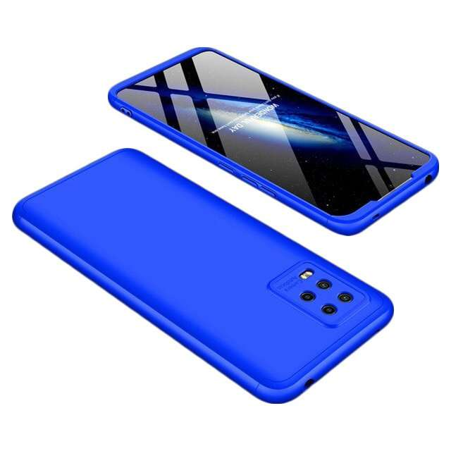 360 Metal Case Cam slider Xiaomi 10 Lite blue