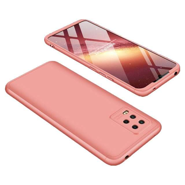 360 Metal Case Cam slider Xiaomi 10 Lite rose gold