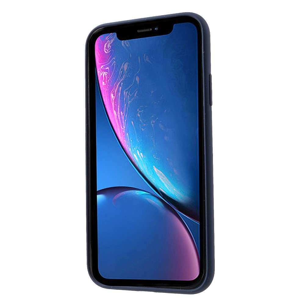 Husa Apple iPhone X Liquid Silicone Case Albastru inchis